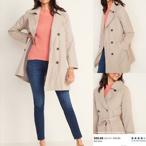 Old Navy Water resistant trench coat size small